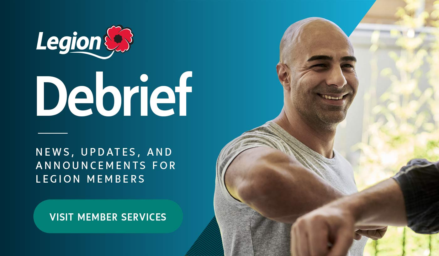 Legion Debrief. Visit member services.